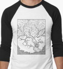 Tree Needs Coffee And Doughnuts Men's Baseball ¾ T-Shirt