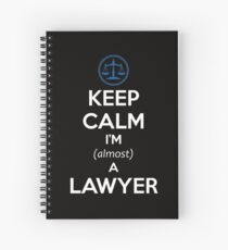 Law Student Bar Exam Gifts for Law School Students - Funny Spiral Notebook