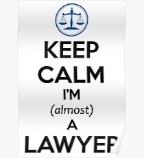 Law Student Bar Exam Gifts Law School Students Poster