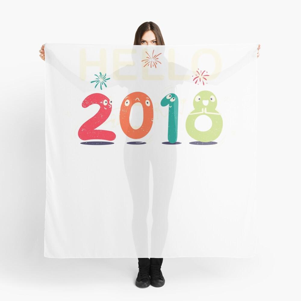 Happy New Year Eve Party Shirt Hello 2018 T Shirt Mug Gift Idea Scarf