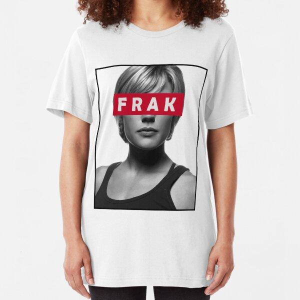 Starbuck - Frak - Battlestar Galactica Slim Fit T-Shirt