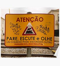 Train Crossing Sign, From Lisbon Poster