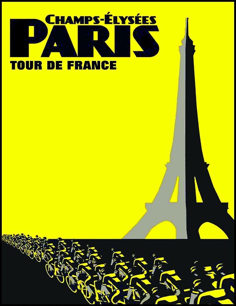 TOUR DE FRANCE: Paris Advertising Print by posterbobs