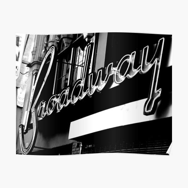 Vintage Broadway Poster