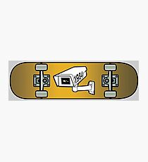 Skateboard with CCTV 1984 graphics Photographic Print