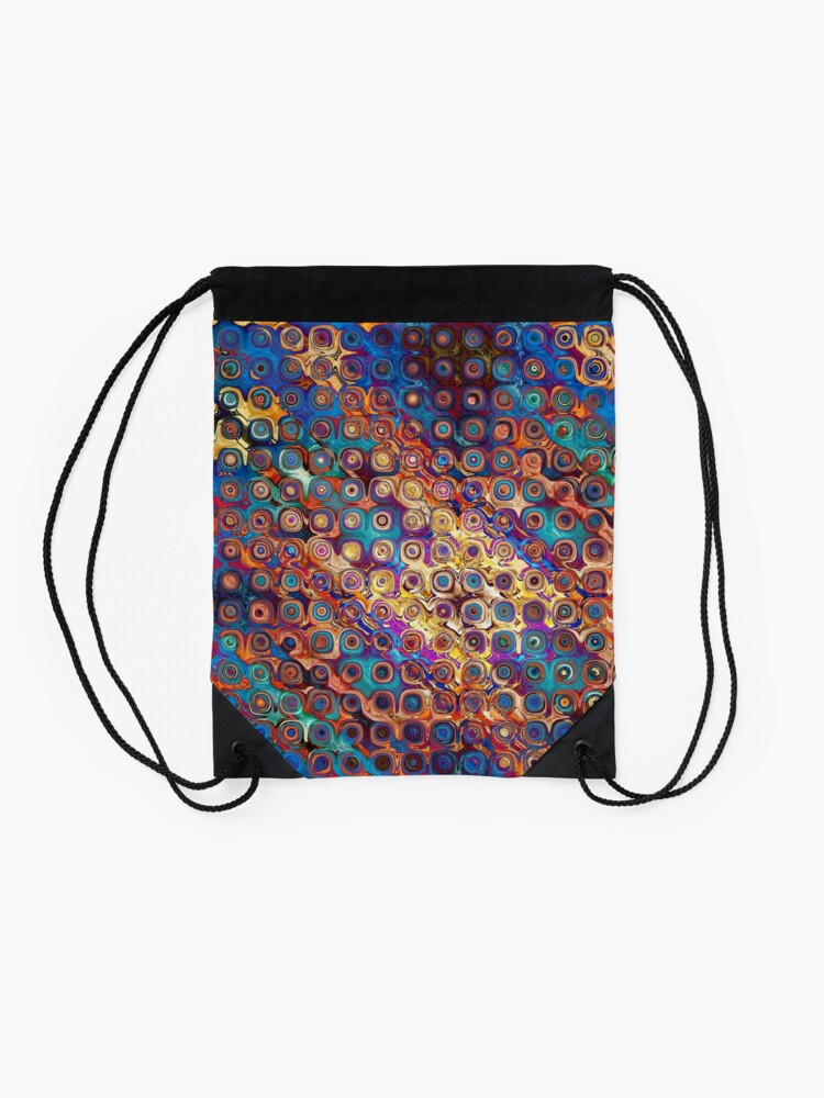 Alternate view of Colorful Abstract Pattern Drawstring Bag