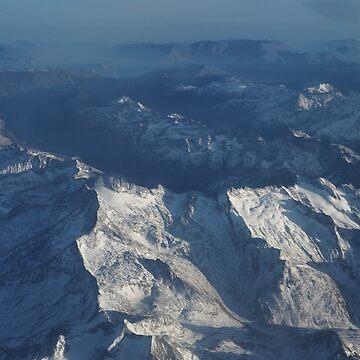 Bird's Eye Alps Mountains by runcatrun