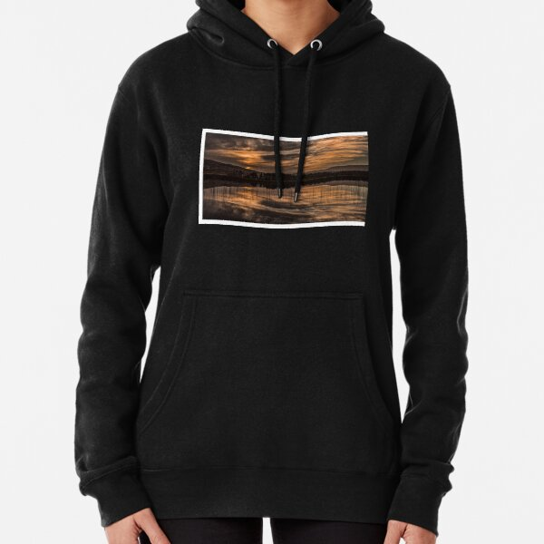 on reflection.... by Phil Darby Pullover Hoodie