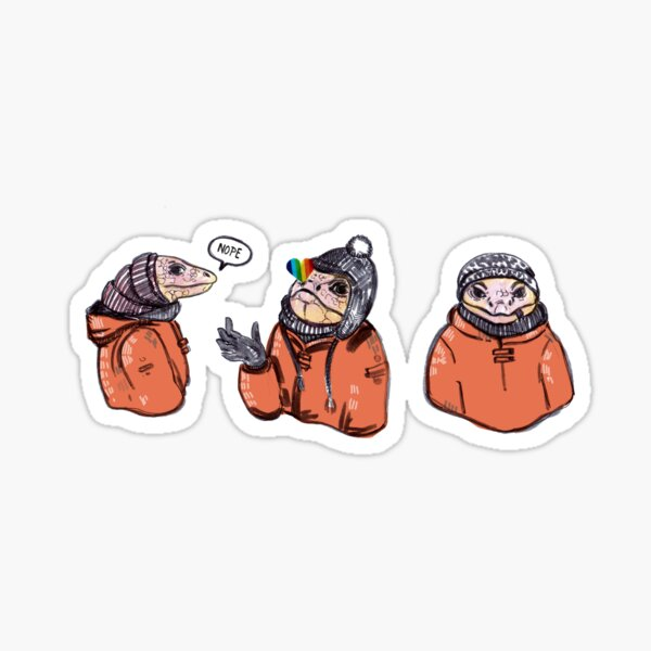 Winter tegu Sticker