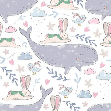 Magical Winter Animals Pattern by crazycanonmom