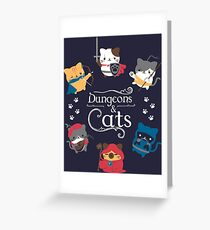 Dungeons and Cats Greeting Card