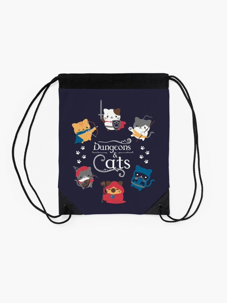 Alternate view of Dungeons and Cats Drawstring Bag