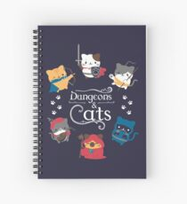 Cuaderno de espiral Dungeons and Cats