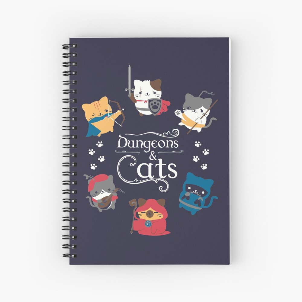 Dungeons and Cats Spiral Notebook