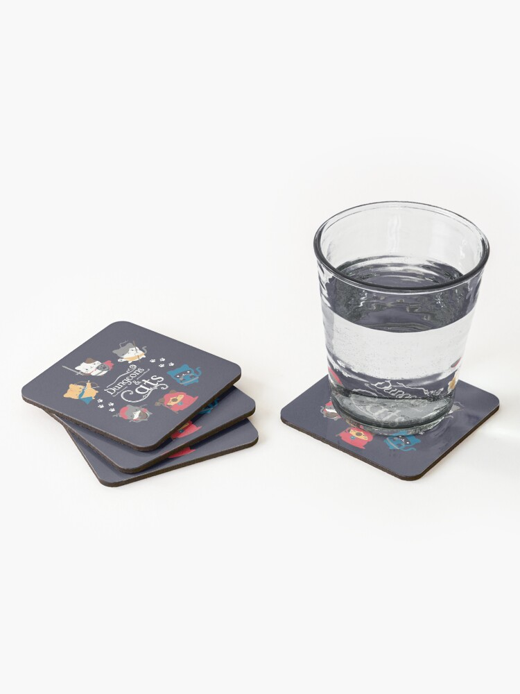 Alternate view of Dungeons and Cats Coasters (Set of 4)