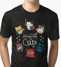 Dungeons and Cats Tri-blend T-Shirt