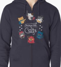 Dungeons and Cats Zipped Hoodie