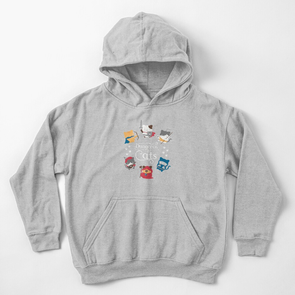Dungeons and Cats Kids Pullover Hoodie