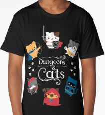 Dungeons and Cats Long T-Shirt