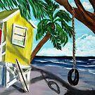 Yellow Beach Shack by WhiteDove Studio kj gordon