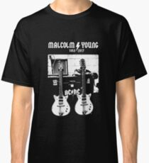 Malcolm Young - AC DC - Gretsch Guitar - Rock Music - Pop Culture Classic T-Shirt