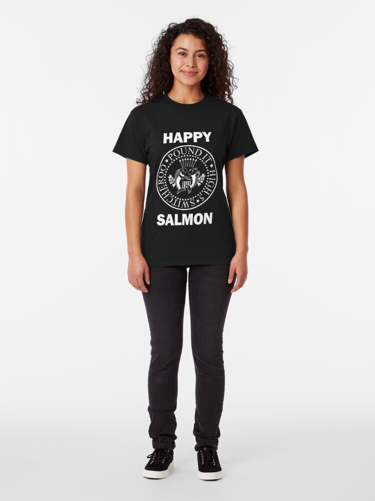 Alternate view of Happy Salmon Ramones Shirt Classic T-Shirt