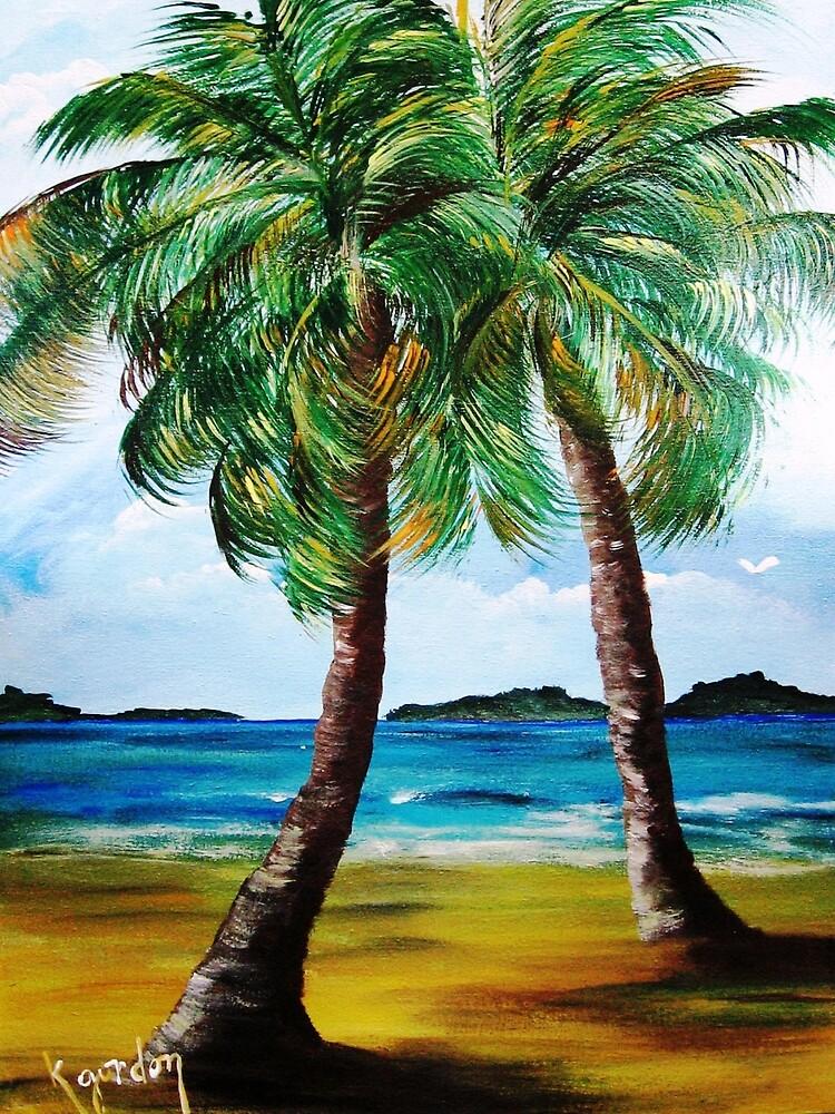 Lazy Twin Palms..........Two Person Party............ by WhiteDove Studio kj gordon