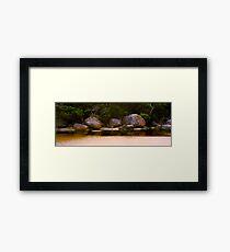 Tidal River Rocks 02 Framed Print