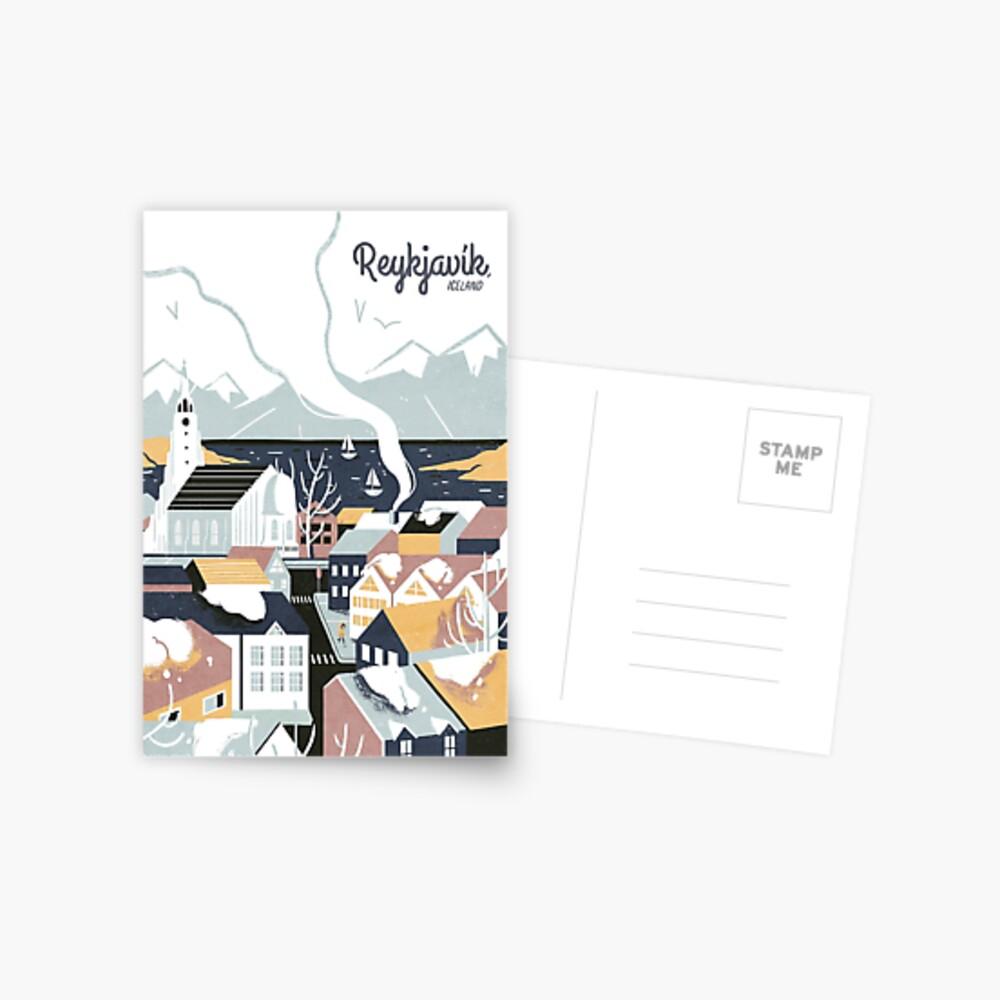 Reykjavik, Iceland, Travel poster Postcard