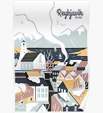Reykjavik, Island, Reiseplakat Poster