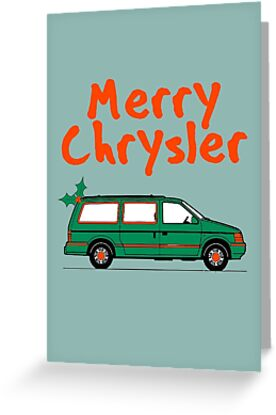 Merry Chrysler Greeting Cards By Grace Emig Redbubble