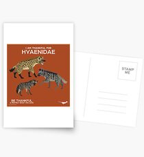 I Am Thankful For Hyaenidae Postcards