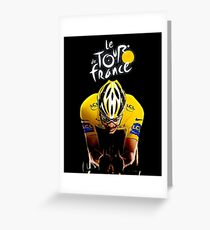 LE TOUR DE FRANCE: Bicycle Racing Print Greeting Card