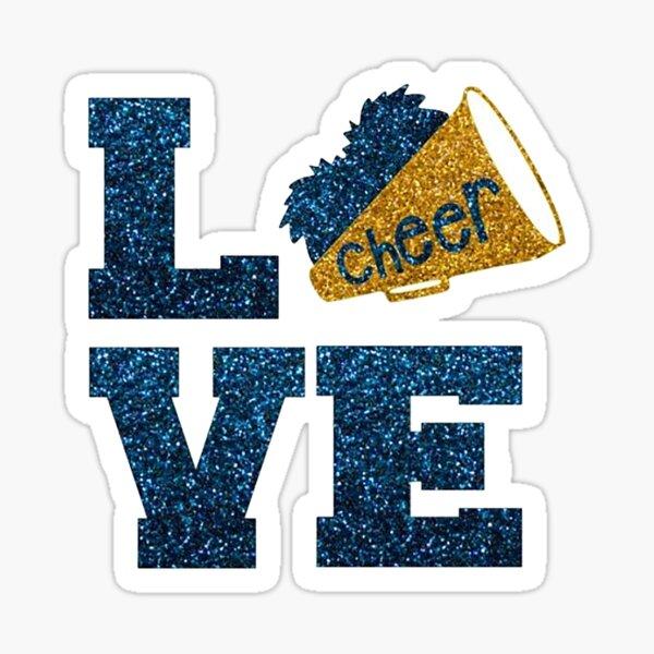 love 2 cheer cheerleading Sticker