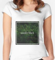 Spooky Black Women's Fitted Scoop T-Shirt