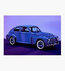Volvo PV 544 1958 Mixed Media Photographic Print