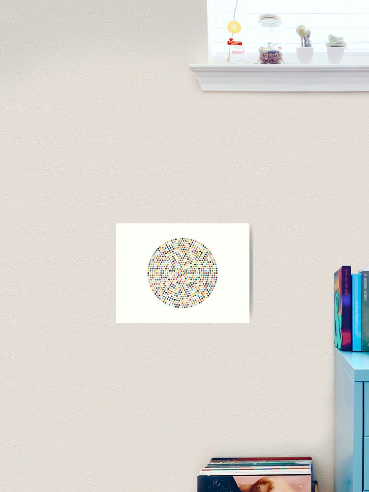 Damien Hirst Inspired Dot Explosion Art Print By Shophollyj Redbubble