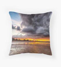 Black Gold Sunset Throw Pillow