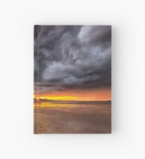 Black Gold Sunset Hardcover Journal