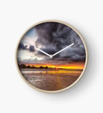 Black Gold Sunset Clock