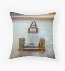 Seaview Outfall Isle Of Wight Throw Pillow