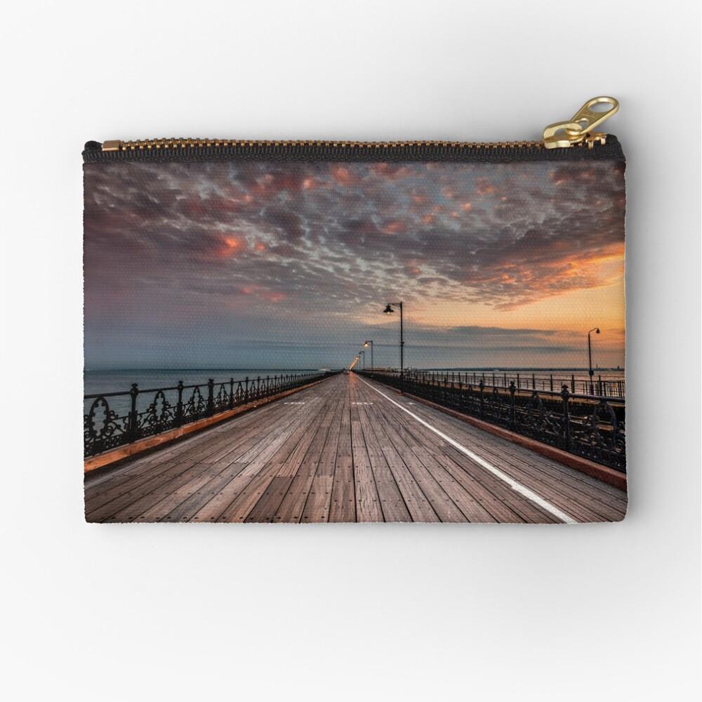 Sunrise On Ryde Pier Zipper Pouch