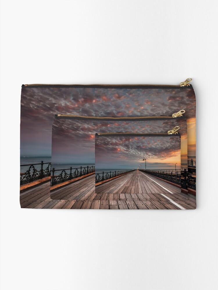 Alternate view of Sunrise On Ryde Pier Zipper Pouch
