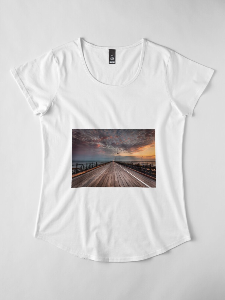 Alternate view of Sunrise On Ryde Pier Premium Scoop T-Shirt