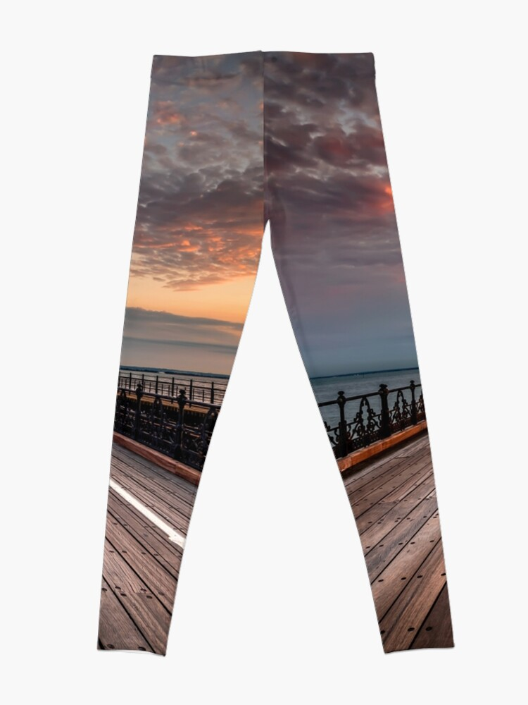 Alternate view of Sunrise On Ryde Pier Leggings