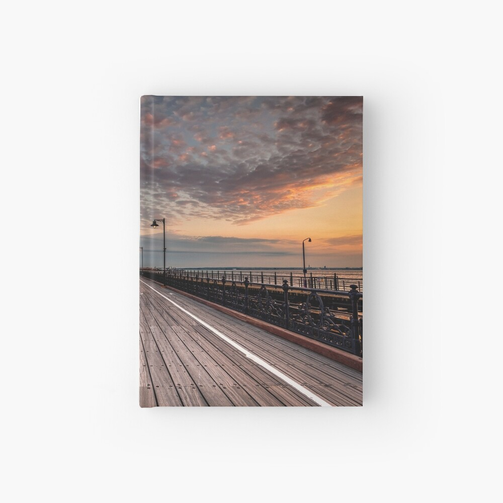 Sunrise On Ryde Pier Hardcover Journal
