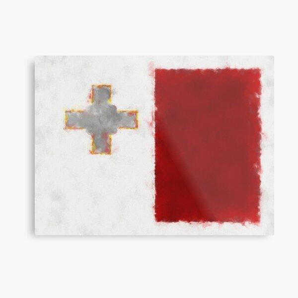 Maltese Flag Reworked No. 66, Series 5 Metal Print