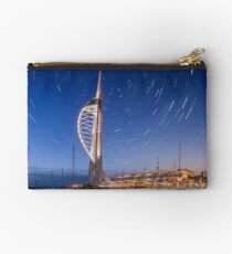 Spinnaker Tower With Star Trails Studio Pouch
