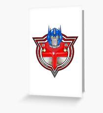 Transformers Optimus Prime G1 Greeting Card