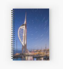 Spinnaker Tower With Star Trails Spiral Notebook